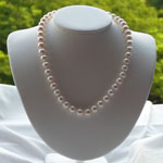High Quality White Pearl Necklace - 9 mm