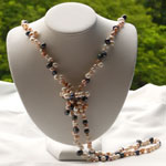 Long Lariat Freshwater Pearl Necklace (multi-colored)